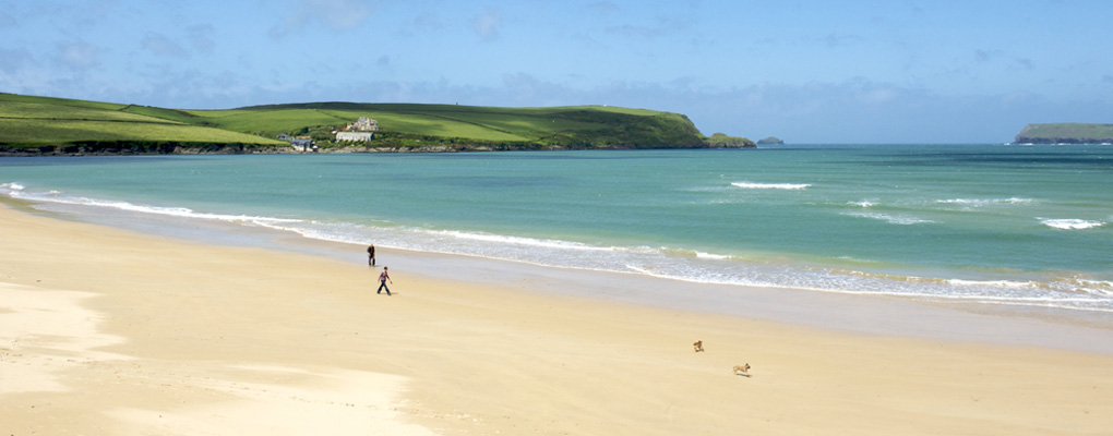 tregirls beach near padstow cornwall